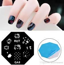 qa nail st nail stencil template diy