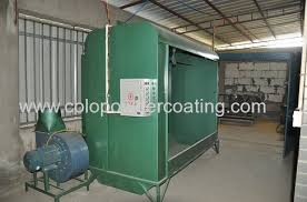 homemade powder coating booth system