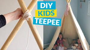 No Sew Kids Teepee Youtube
