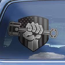 Amazon Com Muscle Car Superhero Fist American Flag Classic Car Window Decal Sticker Handmade