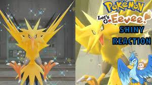 Pokemon Let's Go Shiny Zapdos Reaction - YouTube
