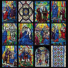 stained glass window custom size