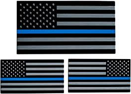 Amazon Com 3d Metal Thin Blue Line American Flag Sticker Decal Emblem In Support Of Police Officers And Law Enforcement Bundle Pack 1 Large 5 X 2 75 1 Left 1 Right 3 2 X 1 8 Automotive