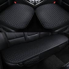 2 pcs black front car seat covers
