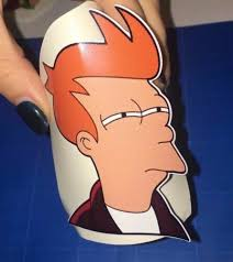X1 Futurama Style Vinyl Sticker Fry Not Sure If Meme Funny Pc Laptop Car Decal Stickers Decals