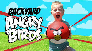 Real Life ANGRY BIRDS Game & DIY Backyard Challenge - Inspired by ...