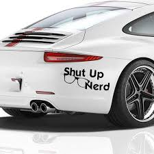15 5x6 6cm Shut Up Nerd Humorous Cute Interesting Vinyl Decal Motorcycle Suvs Bumper Car Styling Car Stickers Car Stickers Aliexpress