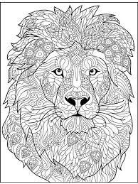 Kleurplaat Leeuw Voor Volwassenen Leukekleurplaten Nl