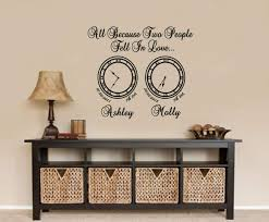 Memory Clock All Because Two People Fell In Love Wall Decals Wall Stickers Wall Quotes Express Yourself Decals