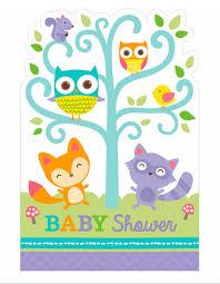 8 Invitaciones Baby Shower Bosque Encantado