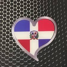 Dominican Republic Flag Heart Sticker Proud Domed Decal Emblem Car Sticker 3d 3 Ushirika Coop