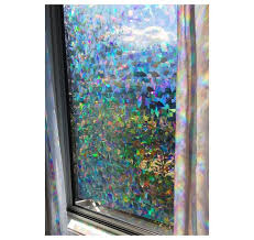 Decorative Window Film Holographic Film 23 X 36 Panel Cracked