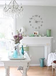 fireplace mantel into a spring focal point