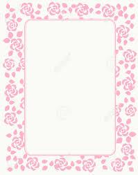 Rose Frontera Con Hermosas Rosas De Color Rosa Para El Cumpleanos