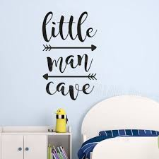 Little Man Cave Wall Decals Kids Wall Quote Words Baby Boy Room Decor Wall Sticker Adesivo De Parede Arrows Wall Papers Z439 Buy At The Price Of 6 99 In Aliexpress Com Imall Com