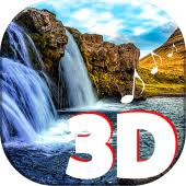 3d waterfall live wallpaper with sound