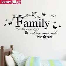 Family Butterfly Flower Wall Stickers Art Vinyl Quote Decals Home Room Decor Us Ebay