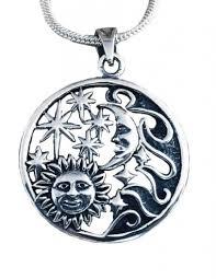moon eclipse silver necklace pendant