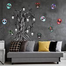 Twisted Bone Tree Sugar Skull Wall Decal Bundle By Chromantics