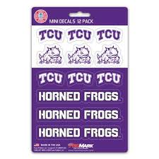 Tcu Horned Frogs Mini Decals 12 Pack