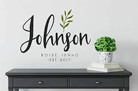Amazon Com Family Farmhouse Wall Decals Personalized Farmhouse Name Wall Decal Monogram Vinyl Wall Decal Last Name Decal Family Name Decal Handmade