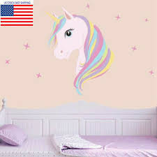 Unicorn Rainbow Queen Wall Sticker For Girl S Bedroom For Sale Online Ebay