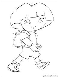 Mooie Kleurplaat Dora The Explorer Gratis Kleurplaten