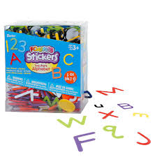 Letter Number Foam Stickers Party City
