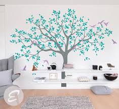 Large Tree Wall Decal Tree Decal For Nursery Temporary Wall Etsy