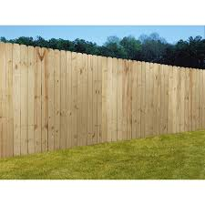 Wood Fencing 6x8 Prime Dog Ear Panel Fence With 5 1 2 Pickets At Lowes Com