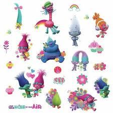 Roommates Trolls Movie 24 Glittery Decals Poppy Branch Bergens Wall Stickers New 34878250090 Ebay