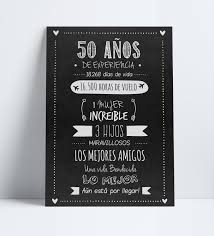 Cartel Poster Afiche Cumpleanos Adultos 50 Anos Invitacion