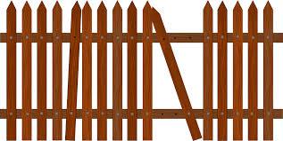 Broken Fence Clip Art At Clker Com Vector Clip Art Online Royalty Free Public Domain