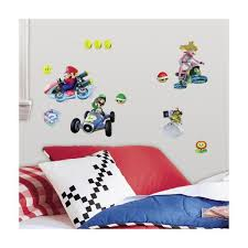 Roommates 5 In X 11 5 In Mario Kart 8 Peel And Stick Wall Decal Rmk2728scs The Home Depot