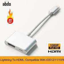Cáp Lightning To HDMI Cho iPhone XS Max XR X 8 8P 7 7P 6 6S iPad iPod âm  Thanh Full HD Video Cáp AV Converter Bộ Chuyển Đổi|