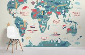 Kids World Map Wallpaper Mural Murals Wallpaper