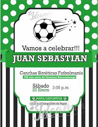 Diseno De Tarjeta De Invitacion De Cumpleanos Tema Futbol