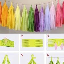 Pin by Ada Barnes on My Pretty Nice Board in 2020 | Tissue paper tassel,  Diy wedding, Tissue paper tassel garland