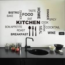 Kitchen Words Quote Wall Stickers Vinyl Art Mural Decal Removable Home Decor Diy For Sale Online