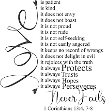 Amazon Com Epic Designs 1 Corinthians 13 4 7 Love Is Patient Love Is Kind Beautiful Wall Decal For Your Home Home Kitchen