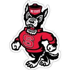 North Carolina State Wolfpack Strutting Wolf Vinyl Decal Red And White Shop