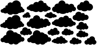 Amazon Com Cloud Wall Decals 40 Black Vinyl Cloud Stickers Perfect Decor For Baby S Nursery Kids Rooms Black Home Kitchen