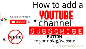 How to add a Youtube subscriber button on a website