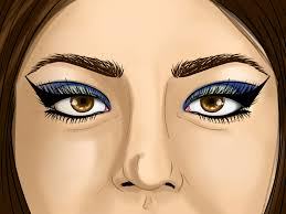 how to apply egyptian eye makeup with