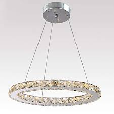 light led crystal ceiling light fixture