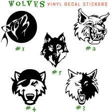 Angry Wolves Vinyl Decal Sticker Car Window Wall Design Laptop Wolf Animal Art Ebay