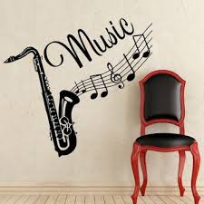 Wall Decal Musical Instrument Saxophone From Amazon Wall Decal