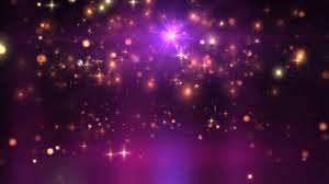 purple orange glittering stars