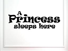 A Princess Sleeps Here Wall Decor Stickers Contemporary Wall Decals By Vinylsay Llc