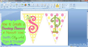 How To Make A Bunting Banner In Word With Clip Art Tips And